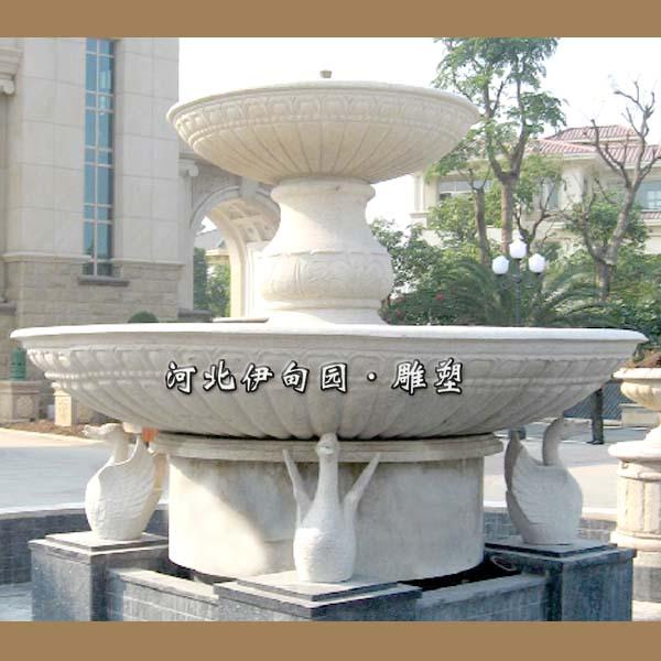 汉白玉喷泉双层欧式喷泉流水雕塑
