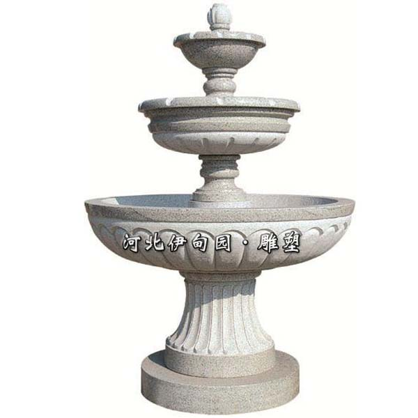 三层盆欧式喷泉石雕流水花钵雕塑