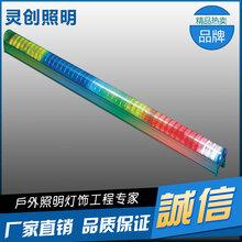 广西南宁发光效率高防水工艺好LED数码管灯具亮化工程优质推荐灵创照明图片