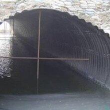 低价出售金属波纹涵管钢制波纹管涵镀锌钢波纹管涵可定做图片