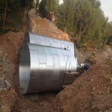 直径2米钢波纹管涵洞钢制波纹涵管生产厂家图片
