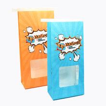 开窗牛皮纸打包袋,定制方底开窗纸袋,厂家生产淋膜纸袋