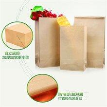 环保食品纸袋市场环保牛皮纸食品袋定制PLA食品纸袋