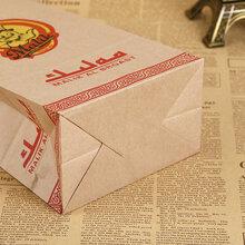 定制牛皮纸打包袋合肥纸袋厂家生产一次性食品打包袋