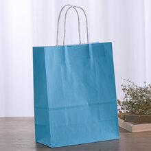 厂家定制牛皮纸手提打包袋方底手提纸袋定制工厂图片