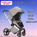 豪華嬰兒推車高景觀雙向推行可坐躺免充氣避震手推車