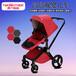 豪華兒童手推車高景觀可換向時尚嬰兒推車