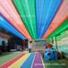 多彩立体遮阳网幼儿园遮阳网泳池游乐场专用流苏遮阴网