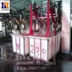 台州1800L滚塑方箱杭州布料周转方桶耐用优质印染推布车厂家图片