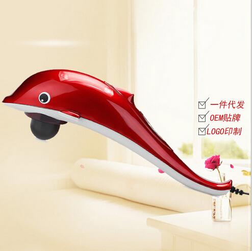海豚按摩棒电动颈椎按摩器颈部腰部肩部按摩捶锤背礼品支持代发