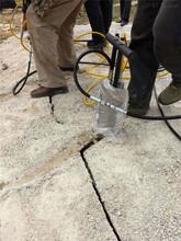 盖房子挖地基坚硬岩石头破碎拆除机器基隆一套报价图片