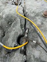 五大連池河道開挖巖石無聲分石機掘進機圖片