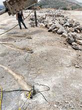 破碎錘打石頭產量低用液壓劈裂棒塔城無聲劈裂劈石棒圖片