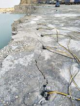 石灰巖開采靜態破裂機器劈裂棒通化柱塞式劈裂棒圖片
