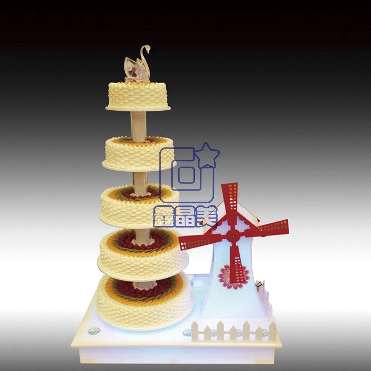 新款创意发光蛋糕架超漂亮三层蛋糕支架