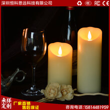 新款上市3D电子仿真蜡烛逼真摇摆电子蜡烛创意3D艺术蜡烛批发图片
