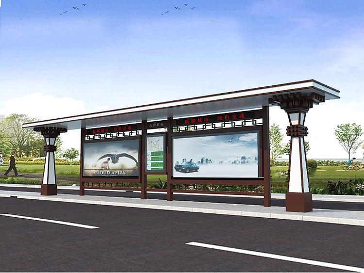 广告制作 吉林不锈钢公交站台   吉林不锈钢公交站台 个性化候车亭中