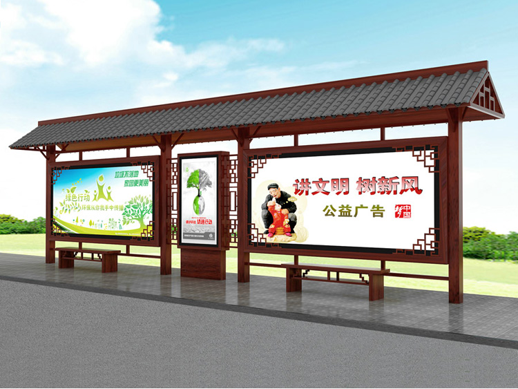 广告制作 吉林不锈钢公交站台   不锈钢公交站台 公交候车亭三个阶段