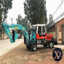 北京新挖掘机轮式挖机图片