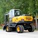 新疆8吨左右的胶轮挖掘机SD85-9小挖机价格图片大全