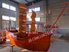 装饰船道具船景观船帆船周氏木业专业定制