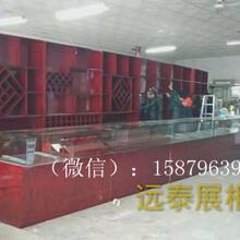 深圳展示柜订做厂家红色烤漆烟酒展示柜木质烤漆钢化玻璃柜钢化玻璃烤漆柜