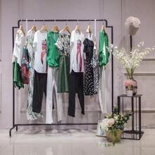 米梵雪紡印花連衣裙品牌女裝折扣走份批發拿貨市場圖片