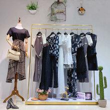 兰恩女装中年女装批发厂家直销女装品牌网中老年雪纺长款女装图片
