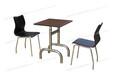 小吃店餐桌椅曲木皮革桌椅不锈钢防火板快餐桌椅ft2-072