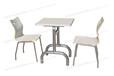 防火板快餐桌椅小吃店餐桌椅曲木桌椅不锈钢
