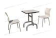 面馆店桌椅小吃店餐桌椅不锈钢防火板快餐桌椅ft2-073