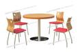 快餐店桌椅加厚直边圆桌椅四人分不锈钢快餐桌椅ft4-067.