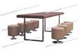 德克士快餐桌椅、铝边快餐桌椅成都吧台椅批发快餐桌椅桌椅发泰厂家