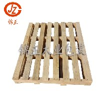 青岛木制托盘厂家出售二面进叉二手木托盘仓储集装箱专用木托盘图片
