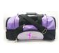 厂家订做新款黑白色亮皮健身包休闲包健身会所定制印字LOGO手提