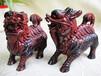 木雕工艺品木檀世家印度小叶紫檀雕刻麒麟珍藏品紫檀火麒麟摆件一对2只