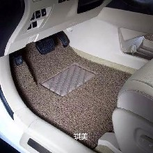 琪美厂家直销厚款pvc丝圈汽车脚垫专车专用脚垫汽车内饰专用垫子图片