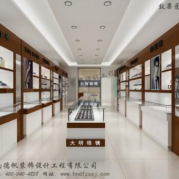 张掖眼镜店装修公司张掖眼镜展柜制作眼镜柜台生产厂家