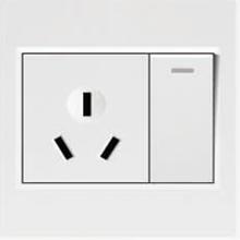 欧派电工电气一开单控带10A三极插座