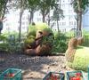 假草坪熊猫造型生产厂家制作价格,四川成都仿真植物造型制作厂家图片