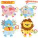TOLOLO卡通动物婴儿睡觉玩具初生儿安抚巾布手偶可啃咬毛绒玩具