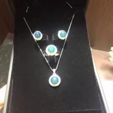 缅甸琥珀高兰圆珠套装925银镶嵌珠宝首饰配饰图片