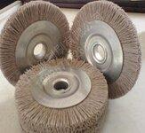热销刀具钝化杜邦磨料刷丝抛光轮氧化铝金刚石抛光轮