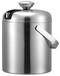 毅思盾酒店客房304双层不锈钢冰桶1.2L带盖便携式圆形冰桶ES4006