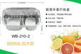 厂家直销快餐外卖打包盒两格铝箔饭盒一次性外卖盒210-2