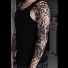 花臂纹身武汉纹身价格哪里低,武汉哪家纹身店技术好,武汉光谷墨守纹身图片
