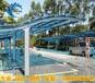 陽光板鋁合金支架雨棚遮陽棚露臺棚庭院室外車庫棚遮陽棚遮雨棚防曬空調遮陽棚
