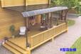 新型耐力板雨棚庭院组合式PC露台棚遮阳棚高档花园别墅铝合