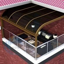 铝合金户外遮阳棚雨篷窗户雨蓬透明露台遮阳棚庭院阳台露台棚