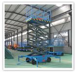 供应河北廊坊常规移动式升降机高空剪叉式升降平台液压升降机图片